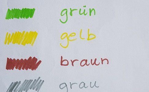 színek németül