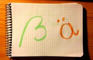 ß (scharfes s), ä (umlautos a) kiejtése