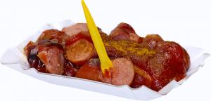 Currywurst, curry-s kolbász